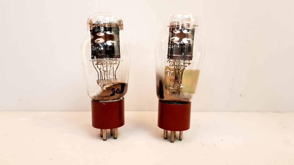 2 valvole tubes nos   pair  2A3 Fivre  biplacca  010-011