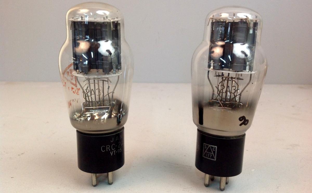 2 valvole tubes nos pair  JAN RCA 2A3 Biplacca 041-042