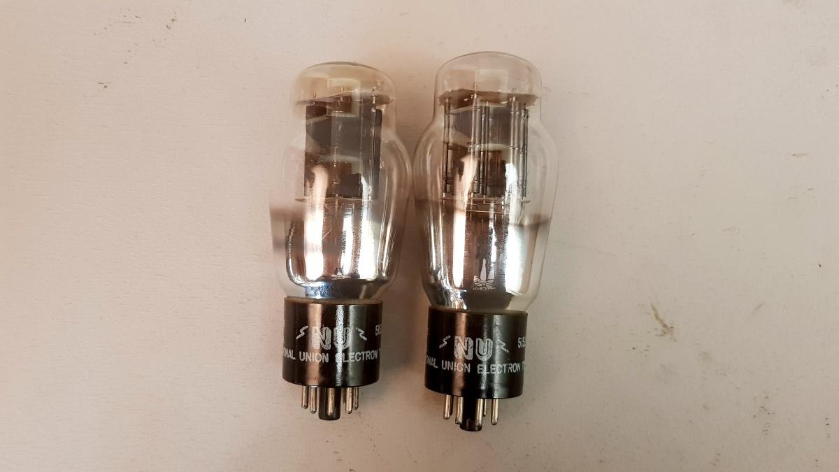 2 valvole tubes nos pair  N.U. 6B4G Biplacca 047-048