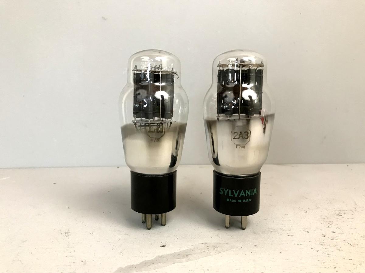 2 valvole tubes nos pair  2A3 SYLVANIA 045-046