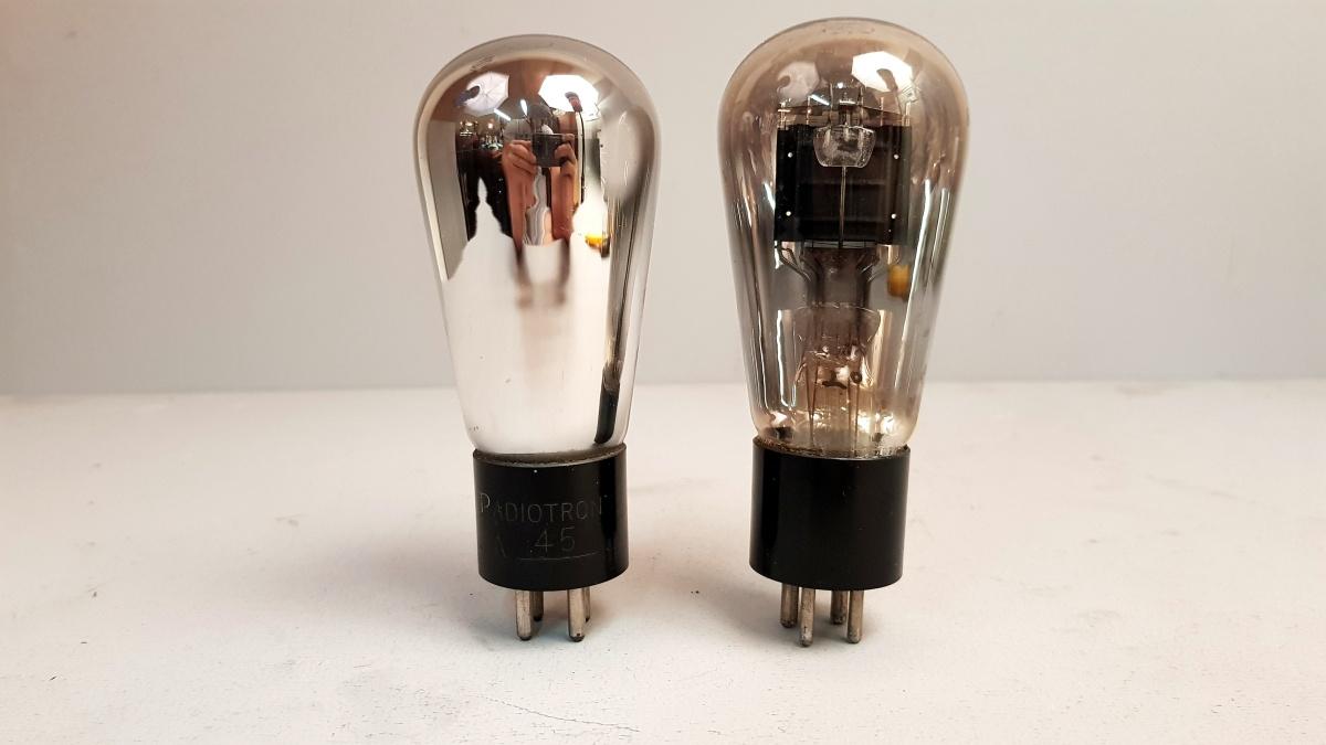 2 valvole tubes pair RCA ux 245 063-064
