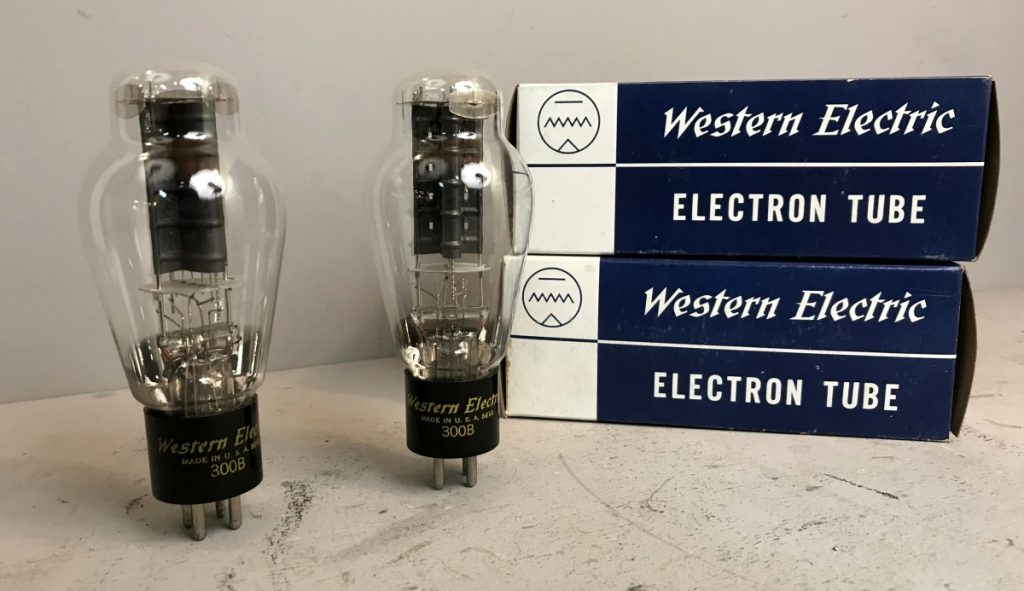 2 valvole  TUBES NOS 300B PAIR WESTERN ELECTRIC  090-091